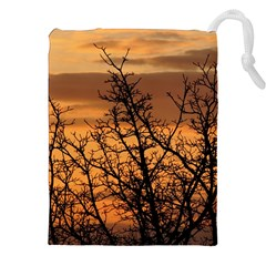 Colorful Sunset Drawstring Pouches (XXL) by picsaspassion