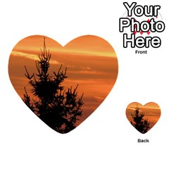 Christmas Tree And Sunset Multi Purpose Cards (heart)  by picsaspassion