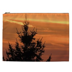 Christmas Tree And Sunset Cosmetic Bag (xxl)  by picsaspassion
