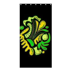 Yellow and green spot Shower Curtain 36  x 72  (Stall)  by Valentinaart