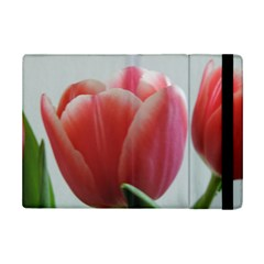 Red - White Tulip flower iPad Mini 2 Flip Cases by picsaspassion