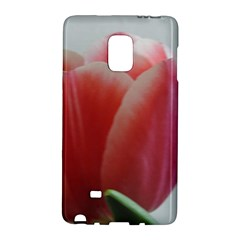 Red - White Tulip flower Galaxy Note Edge by picsaspassion