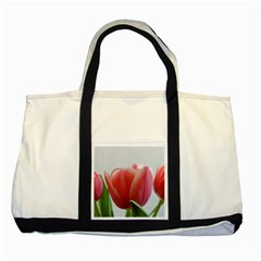 Red Tulips Two Tone Tote Bag by picsaspassion