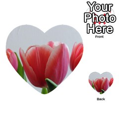 Red Tulips Multi Purpose Cards (heart)  by picsaspassion