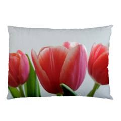 Red Tulips Pillow Case (two Sides) by picsaspassion