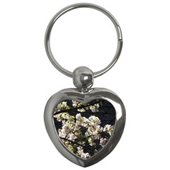 Blooming Japanese Cherry Flowers Key Chains (heart)  by picsaspassion