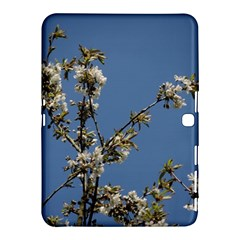 White Cherry Flowers And Blue Sky Samsung Galaxy Tab 4 (10 1 ) Hardshell Case  by picsaspassion