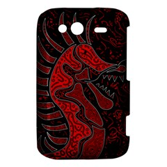 Red dragon HTC Wildfire S A510e Hardshell Case