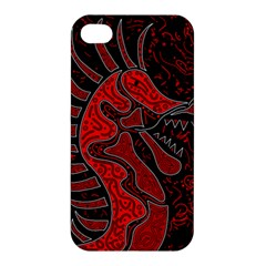 Red Dragon Apple Iphone 4/4s Premium Hardshell Case by Valentinaart