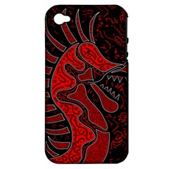Red Dragon Apple Iphone 4/4s Hardshell Case (pc+silicone) by Valentinaart
