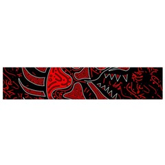 Red dragon Flano Scarf (Small) by Valentinaart
