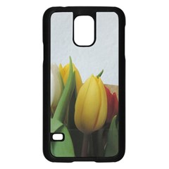 Colorful Bouquet Tulips Samsung Galaxy S5 Case (black) by picsaspassion