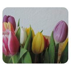 Colorful bouquet Tulips Double Sided Flano Blanket (Small)  by picsaspassion