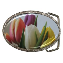 Colored By Tulips Belt Buckles by picsaspassion