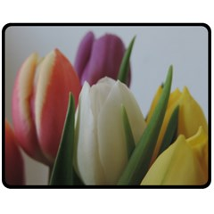 Colored By Tulips Fleece Blanket (medium)  by picsaspassion