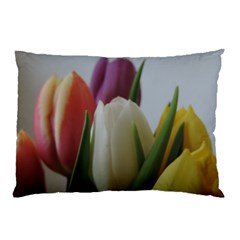 Colored By Tulips Pillow Case (two Sides) by picsaspassion