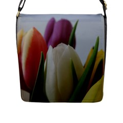 Colored By Tulips Flap Messenger Bag (l)  by picsaspassion