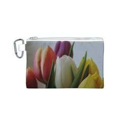 Colored By Tulips Canvas Cosmetic Bag (s) by picsaspassion
