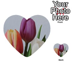 Tulip Spring Flowers Multi Purpose Cards (heart)  by picsaspassion