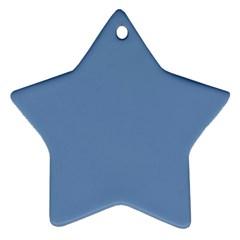 Blue Color Ornament (star)  by picsaspassion