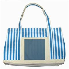 Blue Color Striped Blue Tote Bag by picsaspassion