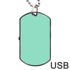 Mint color Dog Tag USB Flash (One Side) by picsaspassion