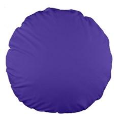 Lilac   Purple Color Design Large 18  Premium Round Cushions by picsaspassion