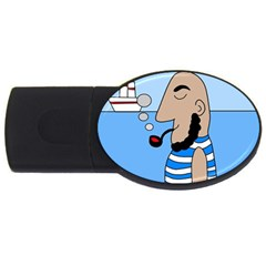 Sailor Usb Flash Drive Oval (2 Gb)  by Valentinaart