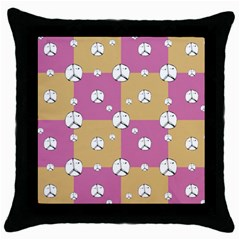 Symbol Peace Drawing Pattern Throw Pillow Case (black) by dflcprints