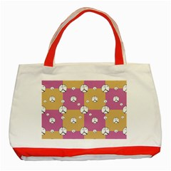 Symbol Peace Drawing Pattern Classic Tote Bag (red) by dflcprints