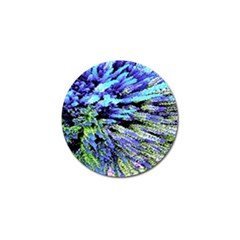 Colorful Floral Art Golf Ball Marker by yoursparklingshop