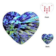 Colorful Floral Art Playing Cards (heart)  by yoursparklingshop