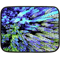 Colorful Floral Art Fleece Blanket (mini) by yoursparklingshop