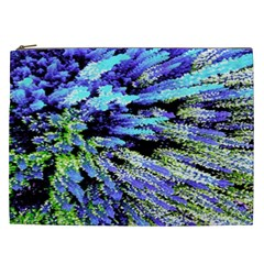 Colorful Floral Art Cosmetic Bag (xxl)  by yoursparklingshop