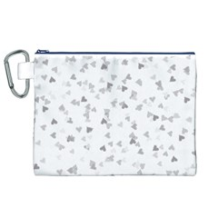 Silver Hearts Confetti Canvas Cosmetic Bag (xl) by theimagezone