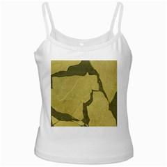 Stylish Gold Stone White Spaghetti Tank by yoursparklingshop