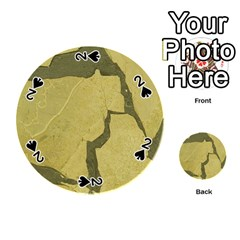 Stylish Gold Stone Playing Cards 54 (round)  by yoursparklingshop