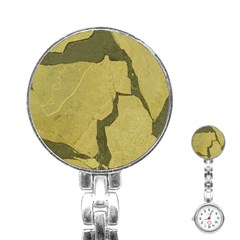 Stylish Gold Stone Stainless Steel Nurses Watch by yoursparklingshop