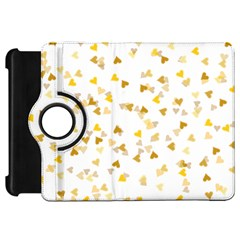 Gold Hearts Confetti Kindle Fire Hd Flip 360 Case by theimagezone