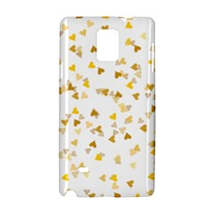Gold Hearts Confetti Samsung Galaxy Note 4 Hardshell Case by theimagezone