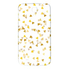 Gold Hearts Confetti Samsung Galaxy Mega I9200 Hardshell Back Case by theimagezone
