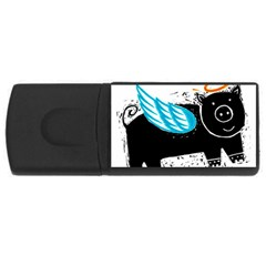 Pure Piglet Usb Flash Drive Rectangular (4 Gb)  by theimagezone