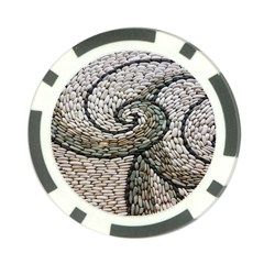 Pebbles Pattern Waves Stone Paving Poker Chip Card Guards (10 pack)  by Zeze