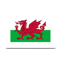 Flag Of Wales Plate Mats by abbeyz71