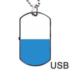 Flag Of Canton Of Lucerne Dog Tag Usb Flash (two Sides)  by abbeyz71