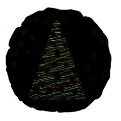 Xmas Tree 2 Large 18  Premium Flano Round Cushions by Valentinaart