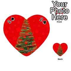 Xmas Tree 3 Playing Cards 54 (heart)  by Valentinaart