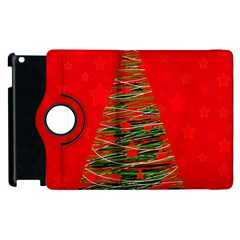 Xmas tree 3 Apple iPad 3/4 Flip 360 Case