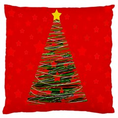 Xmas tree 3 Standard Flano Cushion Case (Two Sides) by Valentinaart