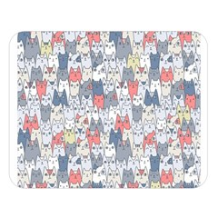 Cats Family  Double Sided Flano Blanket (large)  by Mishacat